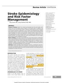 7 Stroke Epidemiology and Risk - Topicos Avancados em