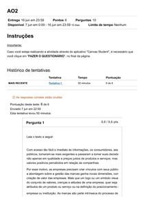 AO2 - Gestão de Produtos Serviços e Marcas - Fam Online