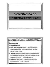 Biomecanica do Sist Articular