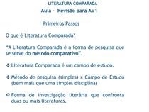 Literatura Comparada Revisão AV1 (1)