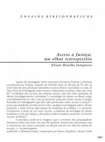 Acesso à Justiça: um olhar retrospectivo