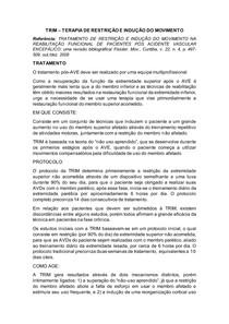 TRIM TERAPIA DE RESTRIÇÃO E INDUÇÃO DO MOVIMENTO