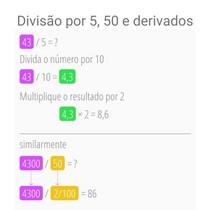 Divisão por 5, 50 e derivados