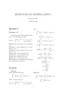 [RESOLUÇÃO] Problema 1 17 - Mecânica Quântica - D