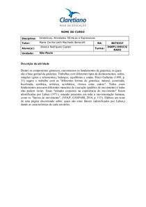 FATORES DE MOVIMENTO SEGUNDO LABAN