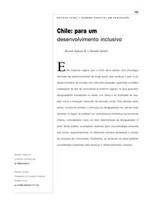 Analise da Cepal sobre o crescimento do Chile