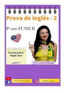 Prova de inglês - 9º ano fundamental II - 2