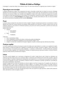 Métodos de Estudo em Histologia