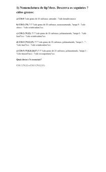 Nomenclatura de lipídeos