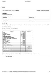 Apol 3   CONTABILIDADE DAS ORGANIZAÇÕES