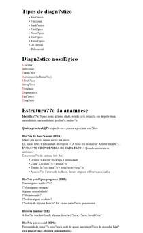 Semiologia - Anamnese básica