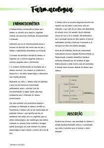 Farmacocinética e Absorção - Farmacologia