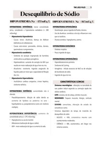 Desequilíbrio de Sódio - Hiponatremia e Hipernatremia