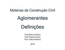 Materiais de Construção   Aglomerantes   Definições e Asfaltos