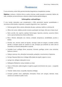 Anamnese - Interrogatório sintomatológico, antecedentes pessoas e familiares e hábitos de vida