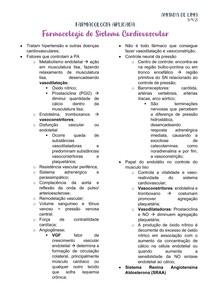 FARMACOLOGIA DO SISTEMA CARDIOVASCULAR - PARTE 1