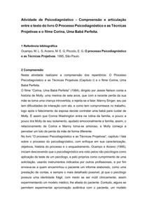 FICHAMENTO - O PROCESSO PSICODIAGNÓSTICO E AS TÉCNICAS PROJETIVAS E O FILME CORINA, UMA BABÁ PERFEITA - PSICODIAGNÓSTICO - 7° SEMESTRE