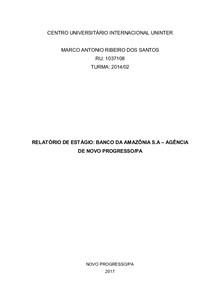 Relatório de Estágio Supervisionado II 0 588325