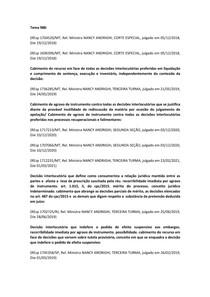 PESQUISA JURISPRUDENCIAL AGRAVO DE INSTRUMENTO NOVO ENTENDIMENTO - STJ - LISTA