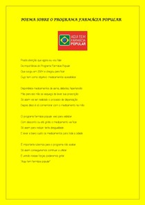 Poema sobre o programa farmácia popular