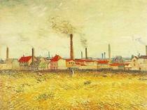 Vincent Willem van Gogh - Fábricas em Asnieres vistos de Quai Clichy