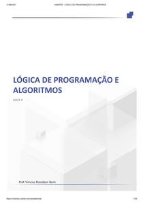 AULA 4 - Algoritmos iterativos