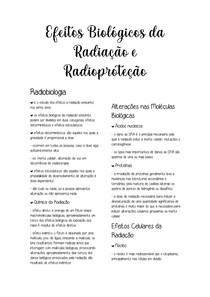Efeitos Biológicos da Radiação e Radioproteção