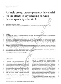A single group, pretest posttest clinical trial for the