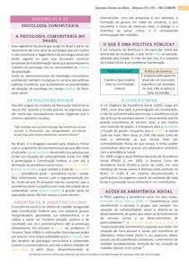Resumo NP1 e NP2 - Psicologia Comunitária