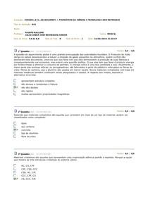 Av1 2014.1 - Princípio da Ciência e Tecnologia dos Materias