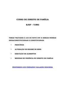 Direito de família no Novo CPC - Luiz Fernando Valladão