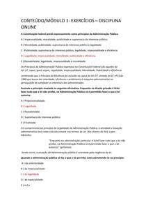 Estudo Disciplinar   Bases Constitucionais da Administração Pública