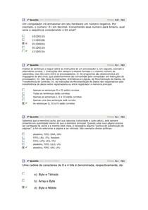avaliando o aprendizado 2 arquitetura e organização de computadores