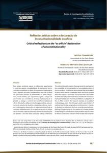 5 TOMMASINI; SILVA_Reflexões críticas sobre a declaração de inconstitucionalidade de ofício