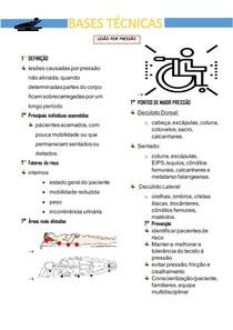 BASES TÉCNICAS - resumo lesão por pressão