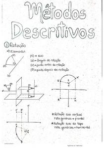 Geometria Descritiva - Métodos descritivos