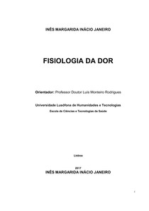 Artigo - Fisiologia da dor / INÊS MARGARIDA INÁCIO JANEIRO