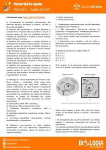 Módulo 1 - aula 16 17 - Tipos Celulares (Procarionte, eucarionte, animal e vegetal)