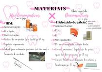 materiais biocompátivel com a polpa e não biocompátivel