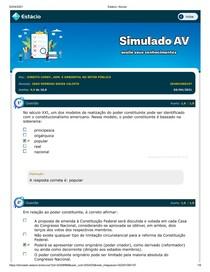 SIMULADO AV - Direito Constitucional, Adm e Ambiental no Setor Público