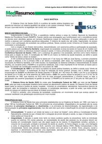 MEDRESUMOS 2016 - BIOÉTICA 13 - SUS e Bioética