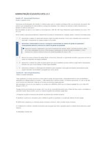 ADMINISTRAÇÃO ECLESIÁSTICA APOL 1 E 2 GABARITO