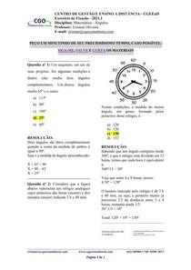 Matemática - Ângulos