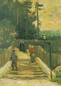 Vincent Willem van Gogh-Path Declive-em-Montmartre