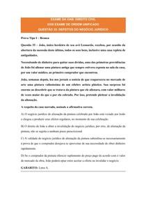 EXAME DA OAB: DIREITO CIVIL / DEFEITOS DO NEGÓCIO JURÍDICO / QUESTÕES COMENTADAS