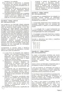 ENSINO DE MATEMÁTICA NA EDUCAÇÃO INFANTIL - 5º SEMESTRE UNOPAR - CÓDIGO 1888502