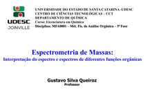 Espectrometria de massas - interpretação