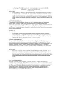 Prova I Sociedade e Meio Ambiente (Redação)