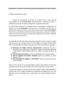 Orientações Finais - Estágio Supervisionado - Versão 02
