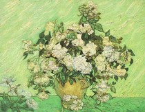Vincent Willem van Gogh-ainda-vida de vaso-com-Roses